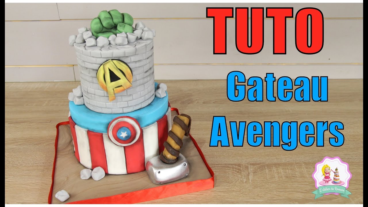 Decoration Anniversaire Emoji Gateau Cake Design Avengers - Tutoriel Decoration Pate A