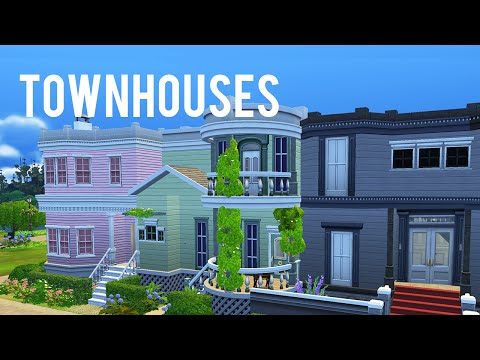 The Sims 4 Speed Build — Townhouses