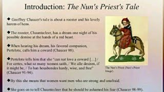 """the nuns priests tale an analysis The nun's priest's tale: the nun's priest's tale, one of the 24 stories in the canterbury tales by geoffrey chaucer, """"the nun's priest's tale"""" is based on."""
