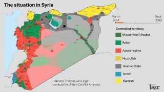 Сирия. Карта изменения ситуации с марта 2014 по сентябрь 2015