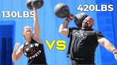 420LB MAN VS WIFE | WHO'S STRONGER?  *CROSSFIT/STRONGMAN*