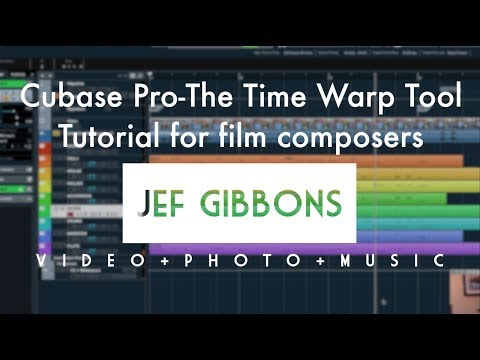 Cubase Pro 10 Basics for Film Composers-The Time Warp Tool