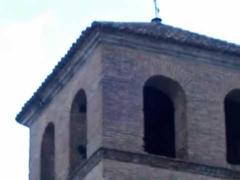 Las campanas de Baza replican al conocerse la elección del nuevo Papa en 2013. Iglesia de San Juan