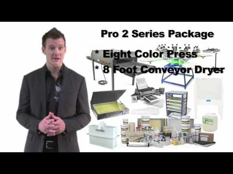 Screen Printing Shop Package Information from Ryonet