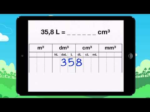Vidéo 17 Leçon Découvre un autre tableau de conversion avec m3 et L !