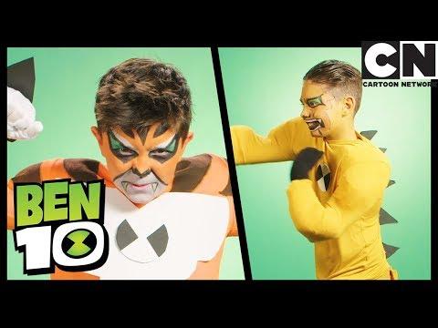 Бен 10 на русском | Костюмы Гумангозавра, Шлепка и Рэта для вечеринки | Cartoon Network