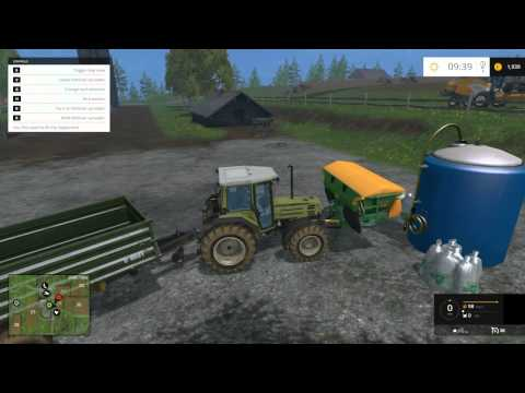 Let's Play Farming Simulator 2015 Part 1 How To Harvest and Plant Wheat