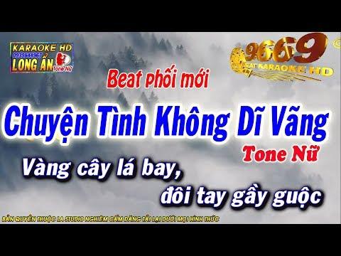 Karaoke Chuyện Tình Không Dĩ Vãng | Tone Nữ - Âm thanh chuẩn | Karaoke Long Ẩn 9669