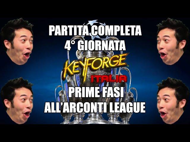 Partita completa 4° giornata | Arconti League 2 | Keyforge