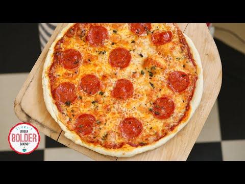 15-Minute Pizza Recipe | No Yeast Dough! | Bigger Bolder Baking