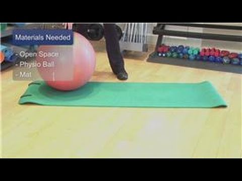 Personal Fitness : How To Do Reverse Sit Ups Using A Physio Ball