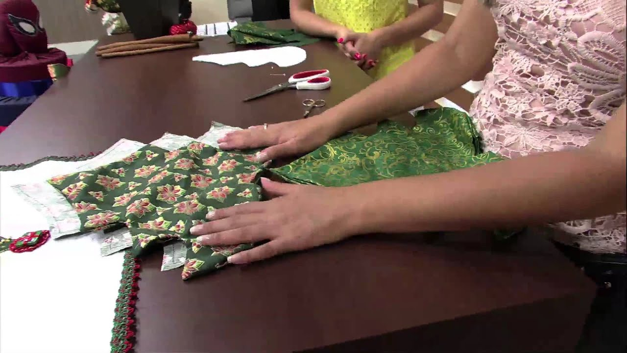 Programa Artesanato Tv Aparecida ~ Árvore de natal em tecido por Vanessa Fernandes 23 10 2013 Mulher com Parte 1 2 YouTube