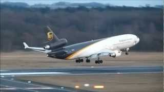 United Parcel Service (UPS) McDonnell Douglas MD-11F [N296UP] Landing at Cologne-Bonn