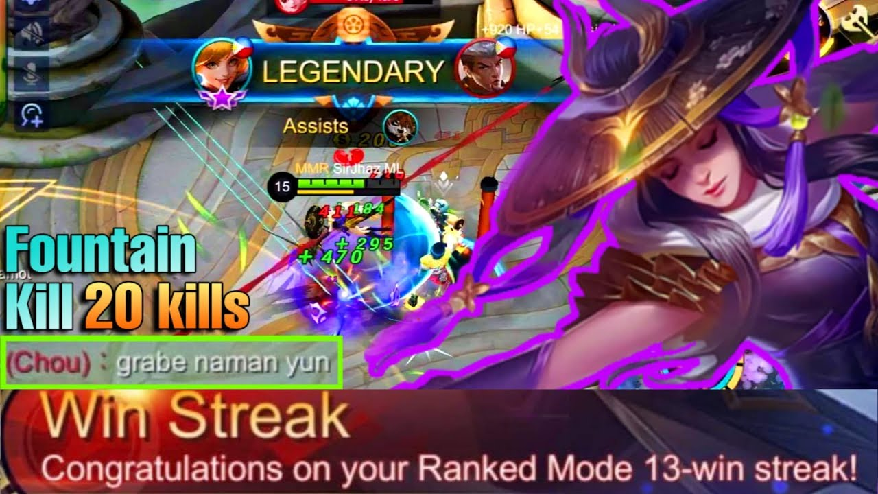 The Moment where you can't escape Death | Fanny 13th rank Win Streak | Mobile Legends: Bang Bang