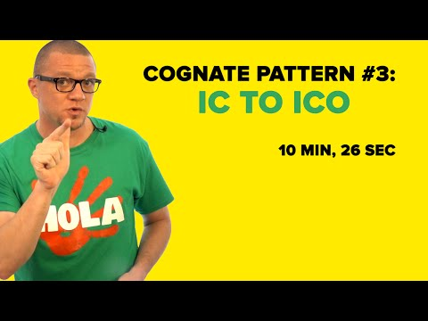 Spanish Cognate Pattern #3: IC to ICO Adjectives & Nouns (S03E03)