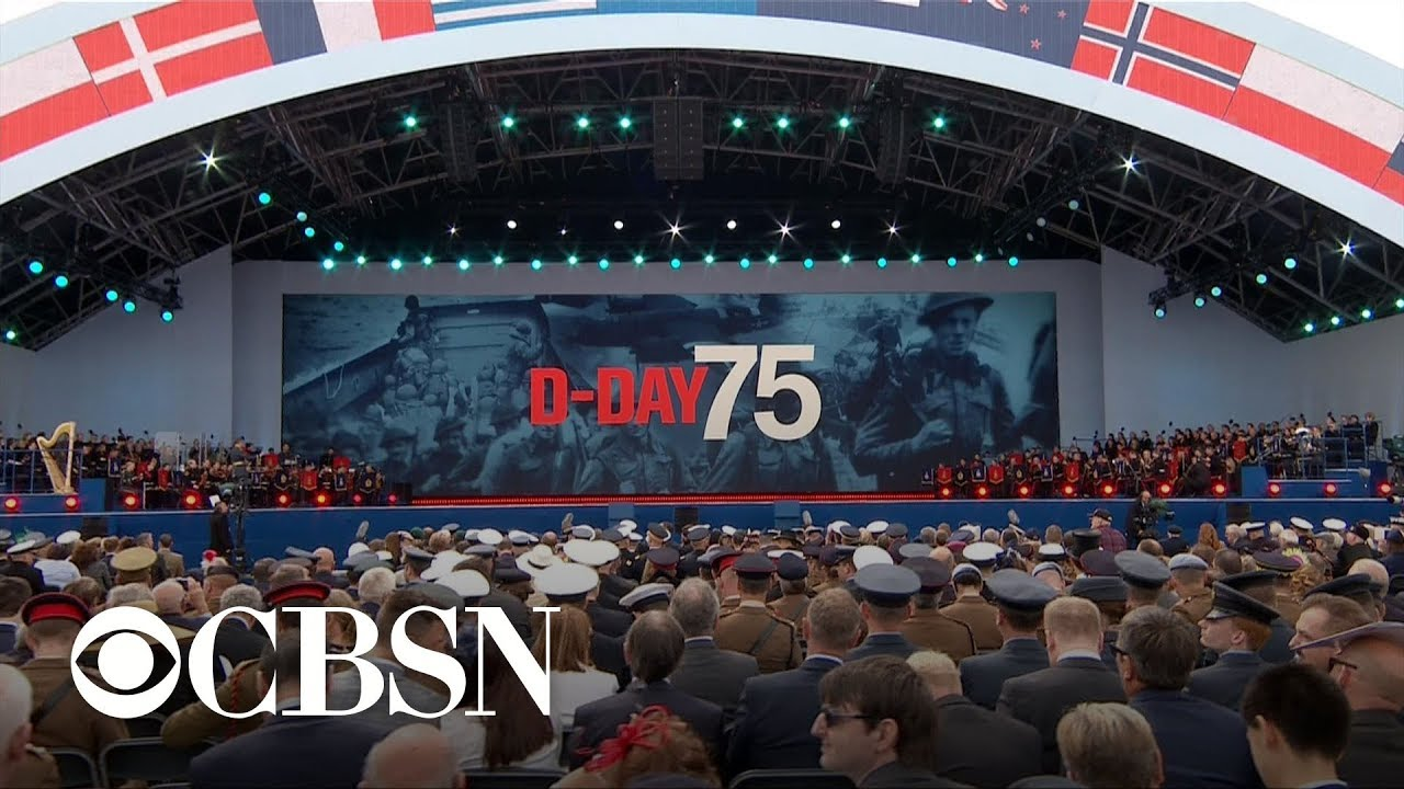 Trump joins world leaders in marking 75th D-Day anniversary