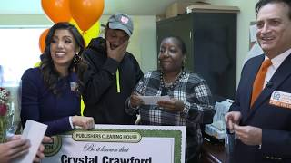"""Baixar Publishers Clearing House Winners: Crystal Crawford From Jamaica, NY Wins $5,000 A Week """"Forever"""""""