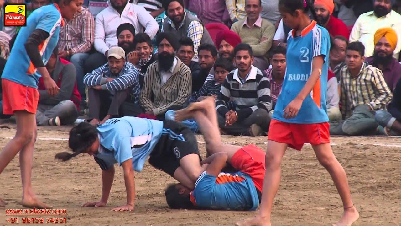 GARHDIWALA (Hoshiarpur) || KABADDI CUP - -2015 || GIRL's SHOW MATCH || Full HD ||