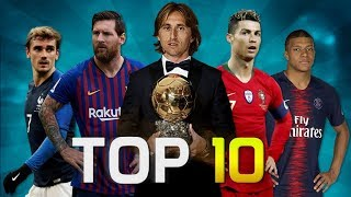 Top 10 Football Players of the Year 2018 (HD)