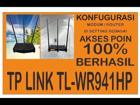 Konfigurasi Tl Wr841hp Router Mode Youtube