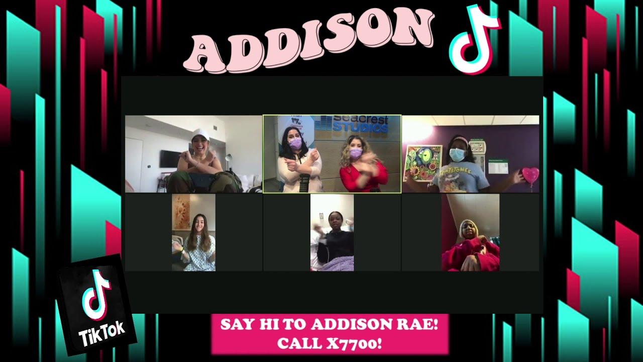 Addison Rae Dances With Patients In Seacrest Studios