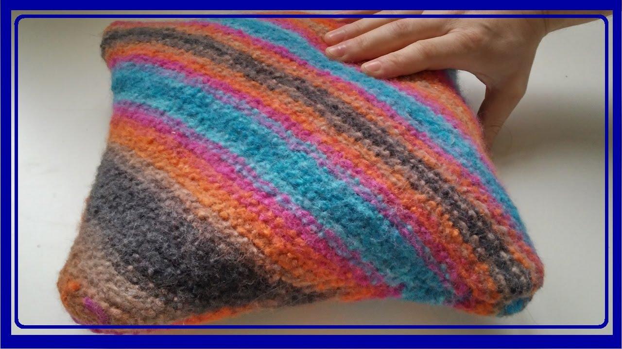 sitzkissen stricken und filzen