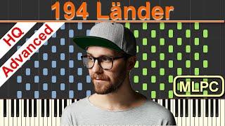 Mark Forster - 194 Länder I Piano Tutorial & Sheets by MLPC