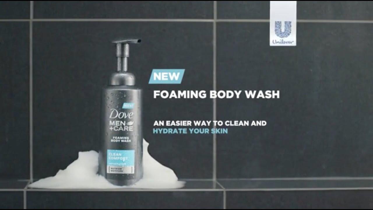 Dove Men Care Foaming Body Wash Youtube