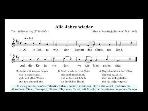 """Weihnachtslieder Lernen für Anfänger """"alle Jahre wieder"""""""