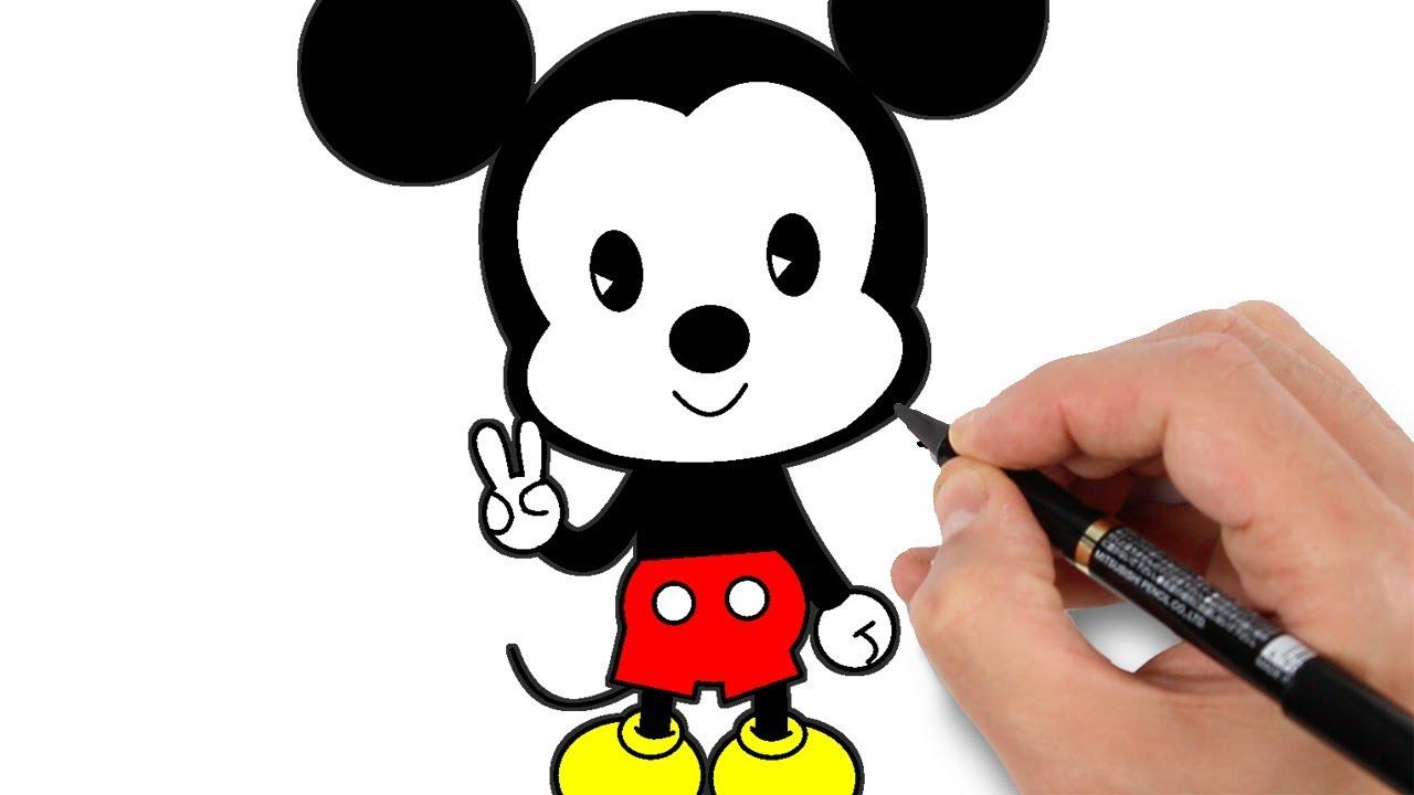 Dessin facile de mickey comment dessiner mickey - Apprendre a dessiner mickey ...