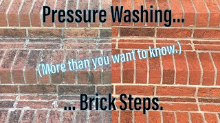 More than you ever wanted to know about pressure washing brick steps