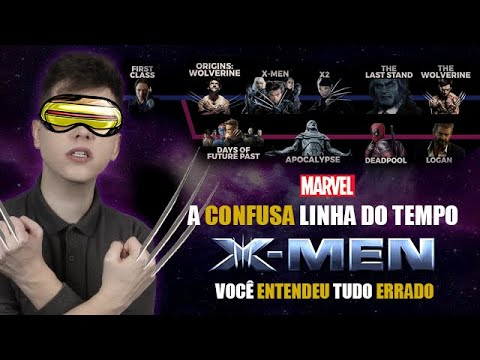 ENTENDA a Confusa LINHA DO TEMPO dos X-MEN - Ta TUDO ERRADO! (Especial FÊNIX NEGRA)