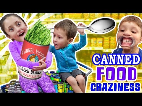 LEXI ADDICTED TO CANNED FOODS? + Mouthguard, Funny Upside Faces & Food Coloring Mess (FUNnel Vision)