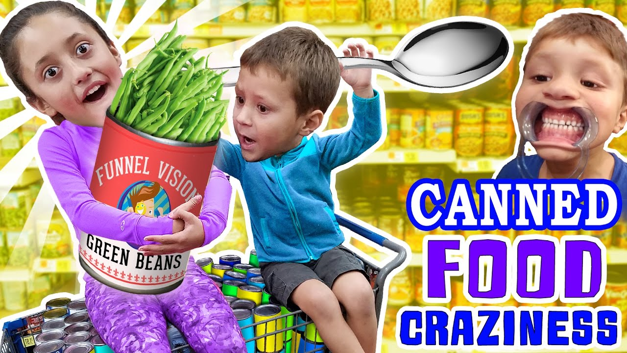 LEXI ADDICTED TO CANNED FOODS? + Mouthguard, Humorous Upside Faces & Meals Coloring Mess (FUNnel Imaginative and prescient)
