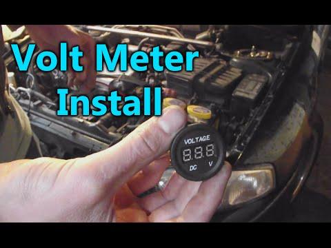 How do you hook up a voltmeter gauge