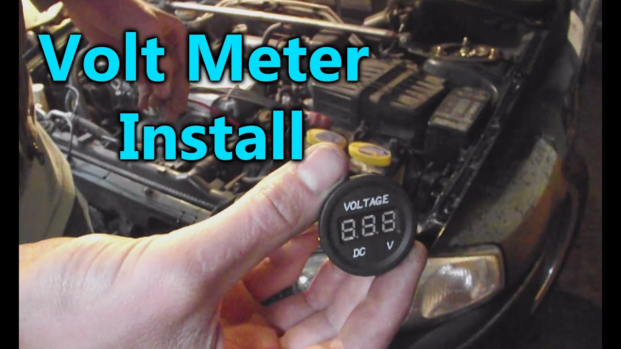 Diy Voltage Meter Install The Racing Seat Youtube