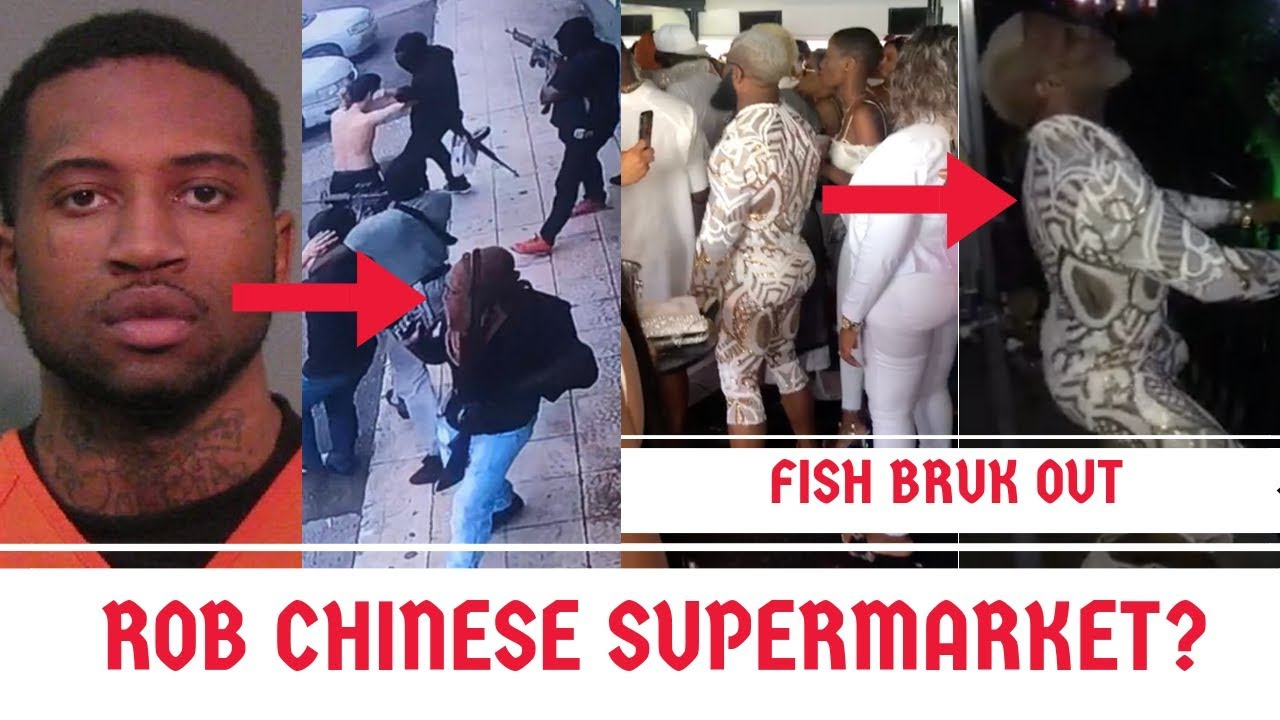 MOST WANTED Man In Chinese Supermarket ROBBERY Held By POLICE + Dancehall  FISH BRUKK OUT