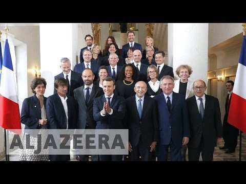 France's Macron holds first cabinet meeting