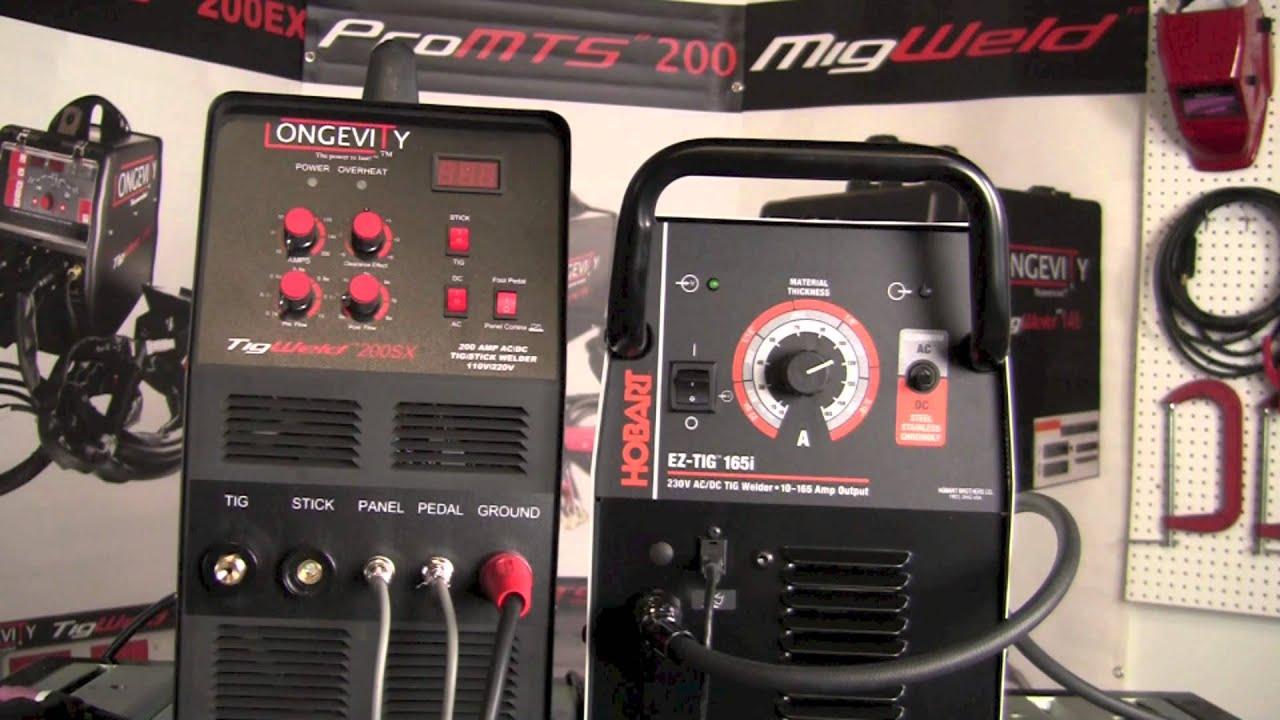 Hobart Tig Welder >> Hobart Ez Tig 165i Vs Longevity Tigweld 200sx Head To Head Machine