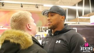 ANTHONY JOSHUA LAUNCHES AJ ELITE SERIES EQ NUTRITION RANGE - MEETS AND GREETS FANS