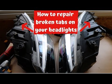 How to repair car headlight