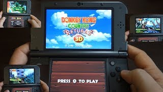 Donkey Kong Country Returns 3D - NINTENDO 3DS XL gameplay