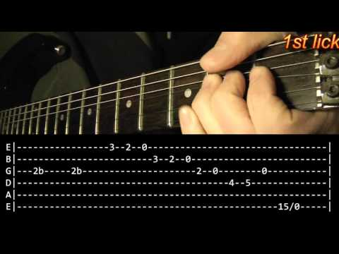 T.N.T.  Guitar Solo Lesson - AC/DC (with tabs)