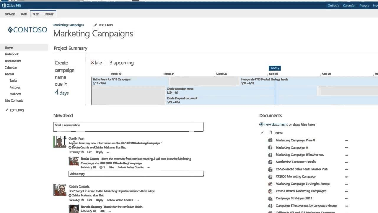 how to create a project plan in sharepoint
