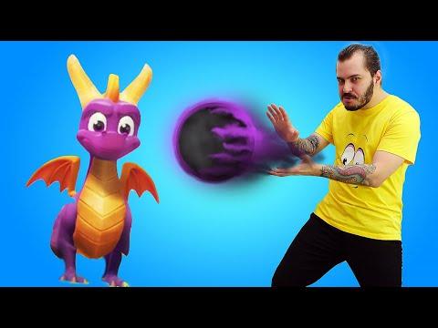 Видео обзор игры Дракон Спайро - Начало приключений! - Летсплей Spyro the Dragon в гейм шоу с Нубом.