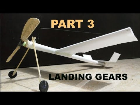 [PART 3] Adding landing gears to my DIY plane| How to make wheels for a toy plane