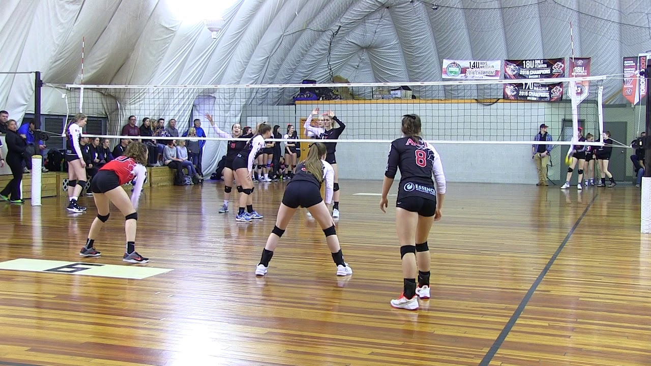 Ace Volleyball Club- 2018 U18 Ace Of Hearts Red VS U17 Ace Of Clubs Black  Volleydome Season Opener