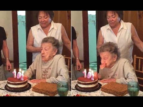 Grandma blows out more than just her birthday candles YouTube