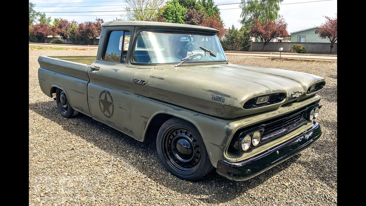 All Chevy chevy c-10 : 1960 Chevy C10 - Military Themed Tribute - YouTube
