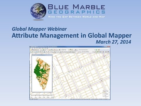 Attribute Management in Global Mapper
